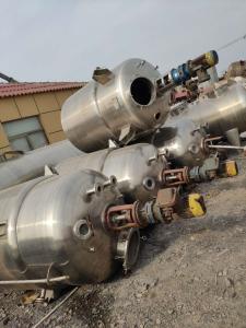 3噸 二手3噸不銹鋼反應釜/電加熱設備