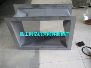 包头矩形高温三防布风机伸缩丝杠软连接