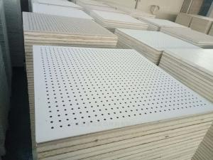 600*600 抗下陷永不變形硅酸鈣復合板 巖棉吸音天花板吊頂
