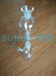 硫化物酸化吹氣吸收裝置 玻璃配件 反應瓶 加酸漏斗 吸收瓶