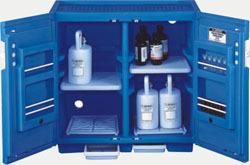 台下式蓝色聚乙烯安全柜