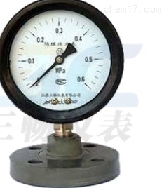 YTP-75S/100SFF防強腐全塑隔膜壓力表