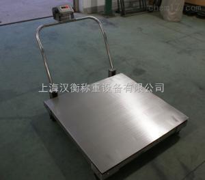 1吨移动式不锈钢地磅 1t带轮子电子地秤