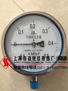 不锈钢压力表Y-60B 上海自动化仪表